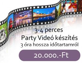 party videó készítés 3 óra hosszára